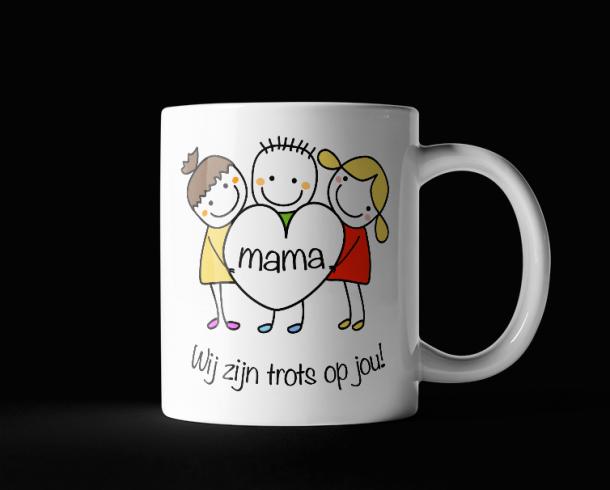 Mama trots op jou - Tekening